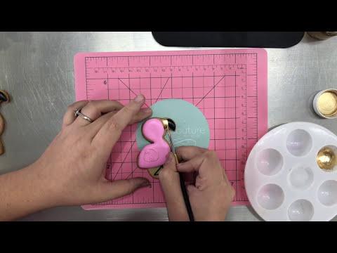 Cómo utilizar pinceles recargables y dorados intensos en galletas