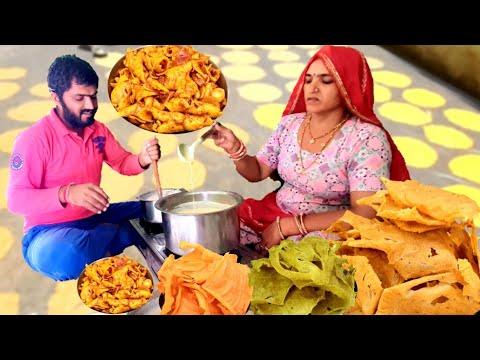 खाते ही मुंह में पानी आयेगा 👌 Ganv ki sabji Rabodi ki ❤️ स्वाद है #Village #food #Rajasthan #india