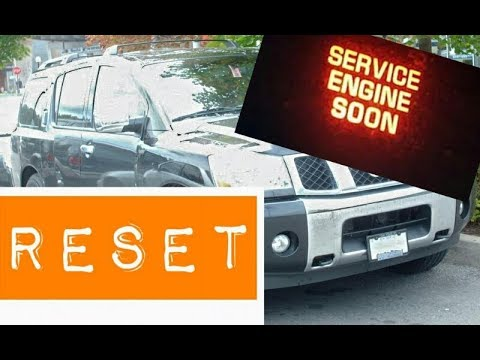 How to reset Service Engine soon Light on a 2015 Nissan