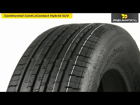 Youtube Continental Conti.eContact Hybrid SUV 235/60 R18 107 V XL ContiSilent Letní
