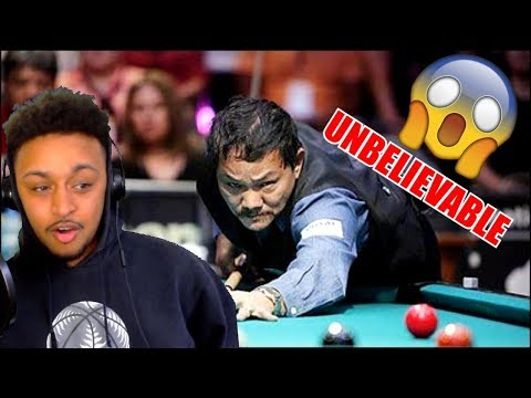 HOW DID HE EVEN MAKE THAT!!!! EFREN REYES TOP 15 AMAZING SHOITS REACTION
