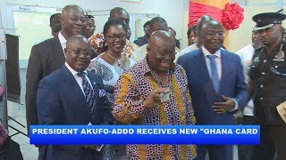 "PRESIDENT AKUFO-ADDO  RECEIVES NEW ""GHANA CARD""_AKM"
