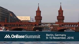 OnBase Summit | EMEA 2016