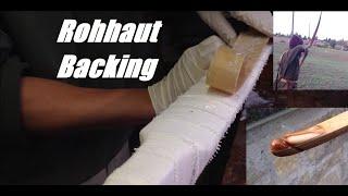 Bogenbau - Backing mit Rohhaut