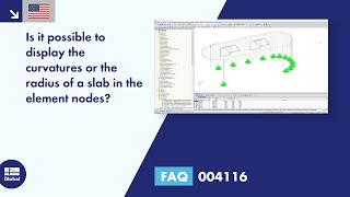 FAQ 004116 | Is it possible to display the curvatures or the radius of a slab in the element nodes?