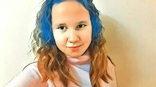 Покрасила волосы ?! Уродую себя  синии волосы !!!