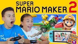 FAMILY MARIO MAKER 2 CHALLENGE featuring HobbyKidsTV Levels!