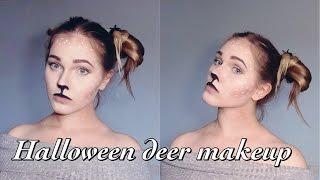 Halloween deer makeup/ Макияж олененка  на хэллоуин