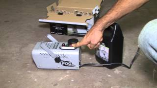 fog machine unboxing and demo