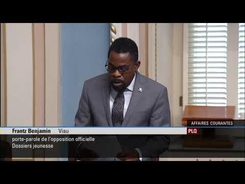 Déclaration du député Frantz Benjamin