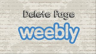 How to delete page from Weebly website
