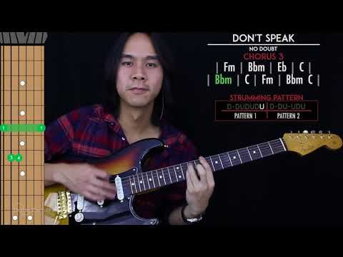 Don't Speak Guitar Cover Acoustic - No Doubt  🎸 |Tabs + Chords|