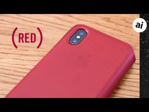 the latest 7718c cff01 First look: iPhone X (PRODUCT)RED Leather Folio Case - iPhone ...