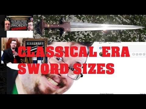 Classical Era Sword Lengths - Response to Shad (Wonder Woman related!)