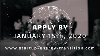 Start Up Energy Transition Award 2020