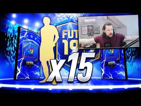 15 x LA LIGA GUARANTEED TOTS PACKS! - FIFA 19 Ultimate Team