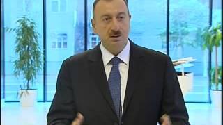 preview picture of video 'İlham Əliyevin Mingəçevirdə Heydər Əliyev Mərkəzinin açılışında nitqi'