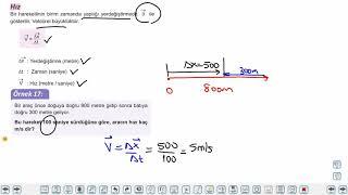 Eğitim Vadisi TYT Fizik 1.Föy Fizik Bilimine Giriş - Kuvvet ve Hareket 3 (Hareket 1) Konu Anlatım Videoları