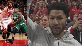 Bulls Slumping Without Rondo! Derrick Rose in Attendance! Celtics Bulls Game 4