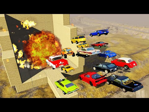 EXPERIMENT - Cars vs Nuclear Bombs #5   BeamNG Drive  CrashTherapy