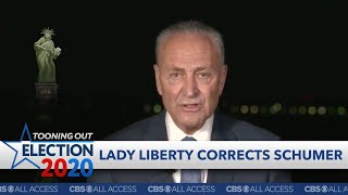 Lady Liberty is skeptical of Chuck Schumer's promises thumbnail