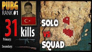 [Eng Sub] PUBG Rank 1 - ArmuttTV 31 kills [EU] Solo vs Squad TPP -PLAYERUNKNOWN