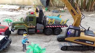 [30분] 포크레인 덤프트럭 중장비 자동차 장난감 구출놀이 모래놀이 연속보기 Excavator Car Toy for Kids Power Wheels