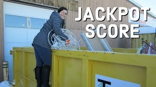 DUMPSTER DIVING JACKPOT  - OUR BEST COPPER WIRE SCORE EVER!!!