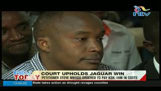 Court Upholds Jaguar's Win, Petitioner Ordered To Pay Ksh.10 Million In Costs