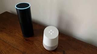 Amazon Echo & Google Home having a  conversation
