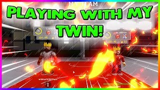 PLAYING WITH MY TWIN | HITTING A HALF COURT GAME WINNER | GETTING REKT BY AN ALLSTAR | RB WORLD 2
