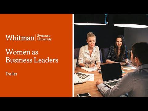 Women as Business Leaders | Whitman School | Course Trailer