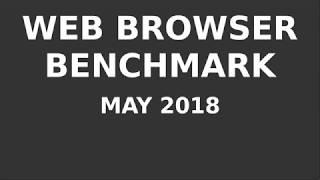 Web Browser Benchmark - May 2018