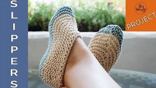 Easy Slippers Knitting Pattern (using Garter Stitch And Straight Needles) - So Woolly