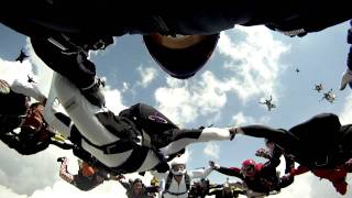 40 Way All Texan record skydive at skydive dallas