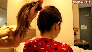 ASMR HAIRPLAY | HAIR BRUSHING ON PONY TAILS