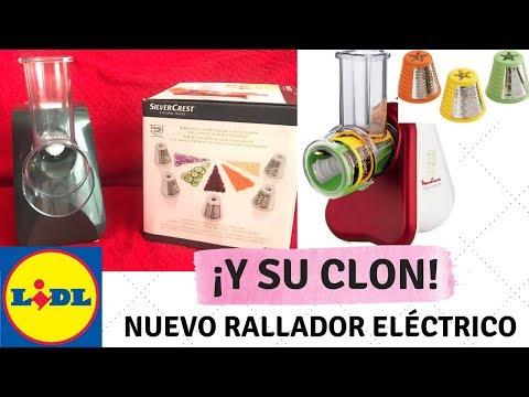 NUEVO RALLADOR ELECTRICO LIDL: CLON DE LA MOULINEX  - DEMOSTRACIÓN RALLADOR