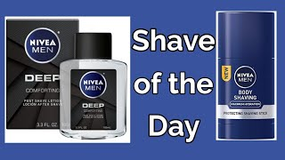Shave of the Day - Nivea Shave Stick, Nivea Deep Aftershave, Yaqi Razor, Haircut and Shave Co