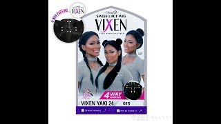 $50 VIXEN WIG: Sensationnel Swiss lace wig- Yaki 24