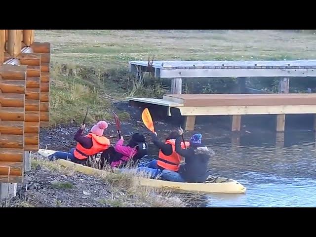 """The chinese """"olympic team"""", kayak training in Ólafsfjörður, Iceland. Enjoy!"""