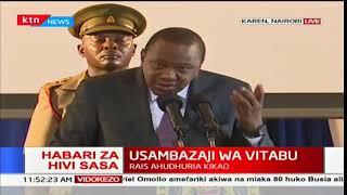 Rais Uhuru Kenyatta katika kikao cha usambazaji wa vitabu vya mtaala mpya