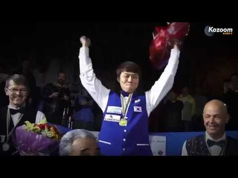 해냈다!! I did it!! (Sung-Won Choi, 3-Cushion Worldchampion 2014)