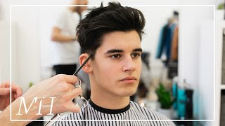 Mens Medium Length Haircut With High Hold | 2020 Hairstyle Tutorial