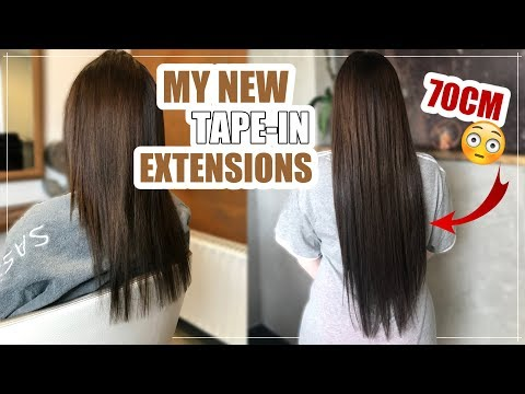 NEW HAIR UPDATE  - 60cm Tape-In EXTENSIONS 😻💇🏻