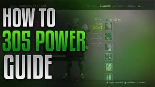 Destiny 2 - Detailed Guide to 305 Power