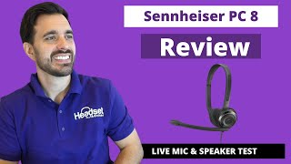 Sennheiser PC 8 USB Computer Headset - LIVE MIC & SPEAKER TEST!