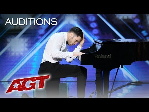 Surprise! This Piano Playing Guy Turns Into A Fierce Dancer! - America's Got Talent 2019 (видео)
