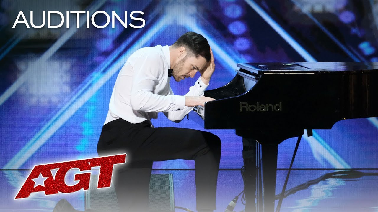 Surprise! This Piano Playing Guy Turns Into A Fierce Dancer! - America's Got Talent 2019 thumbnail