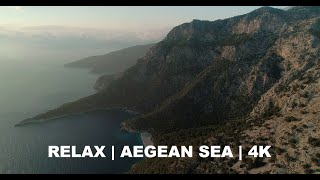 Relax and Fly Over the Turkish Aegean Sea | 4K Drone