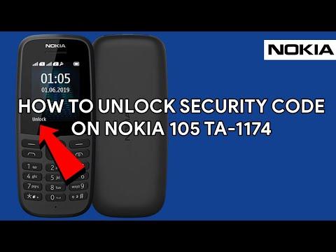 How To Unlock Security Code On Nokia 105 TA-1174 - [romshillzz]